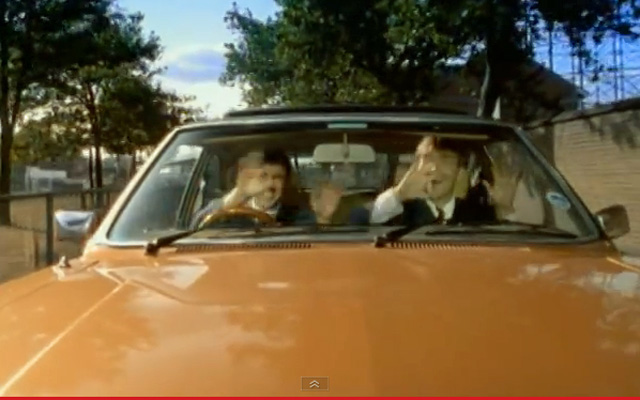 Blur's Parklife video, 1994, copyright EMI