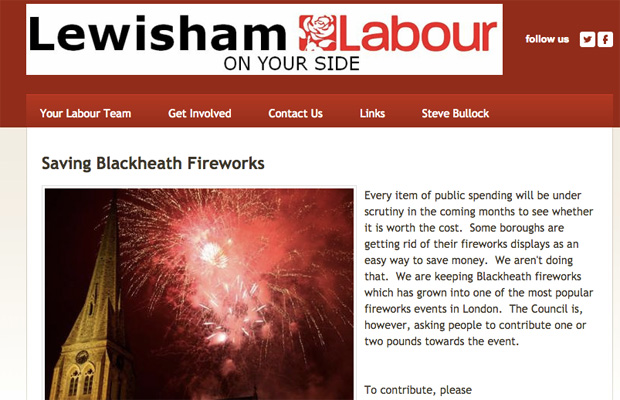 Lewisham's Labour group has made saving Blackheath fireworks a priority, unlike their Greenwich colleagues
