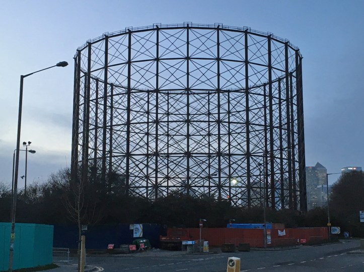 East Greenwich gasholder at full height