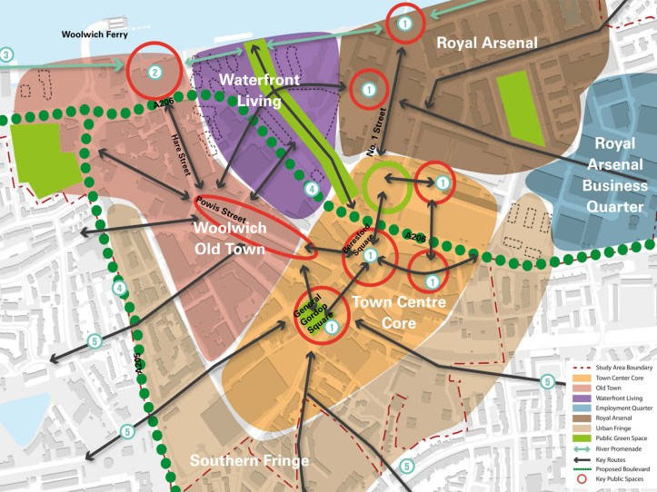 Woolwich town centre map