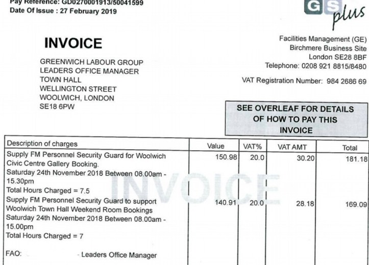 Second invoice