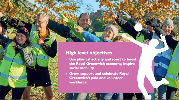 Image taken from the Greenwich Get Active Strategy