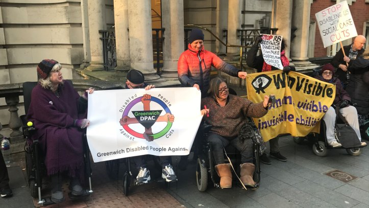 Social care cuts protest