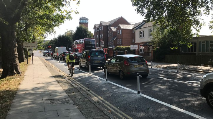 Shooters Hill Road cycle route