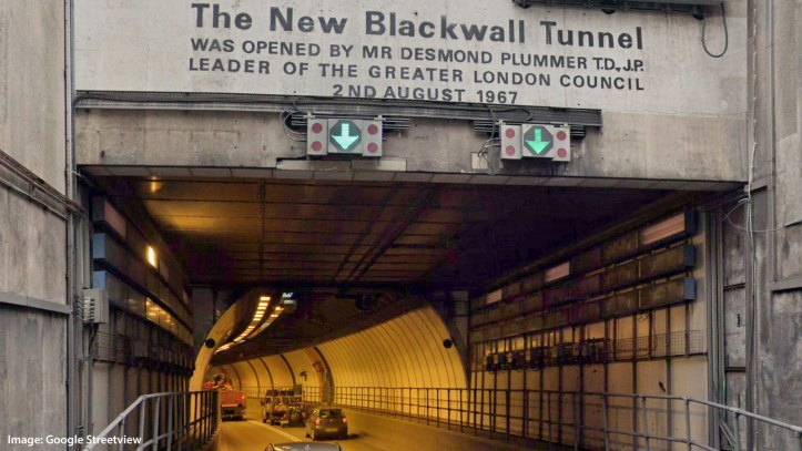 Southbound Blackwall Tunnel