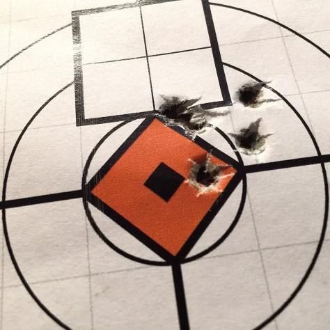 Five shots of Wolf Match Target from the 50 yard line with the BX-Trigger™ in the 10/22 Carbine.