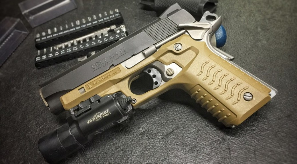 Recover Tactical CC3H 1911 Grip and Rail System | 8541 TACTICAL
