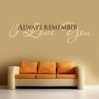 I LOVE YOU ... Vinyl Wall Decal Words Lettering Quote ...