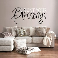 Wall Decal Quotes - Count Your Blessings...art Sticker For ...