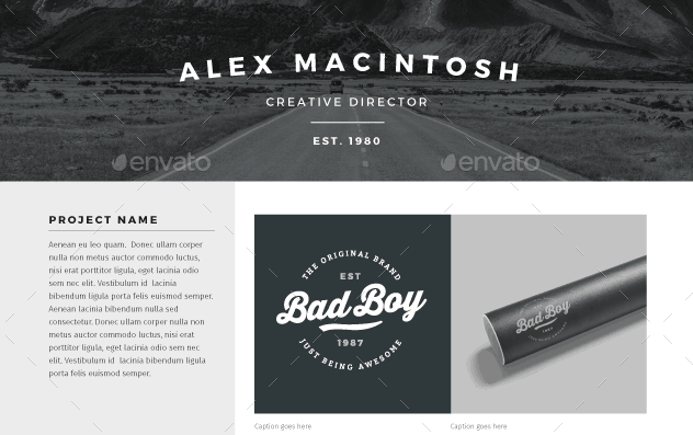 30 Awesome PSD Portfolio And Resume Templates 85ideas