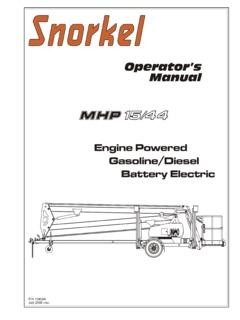 Snorkel Lift Tb42 Parts Manual
