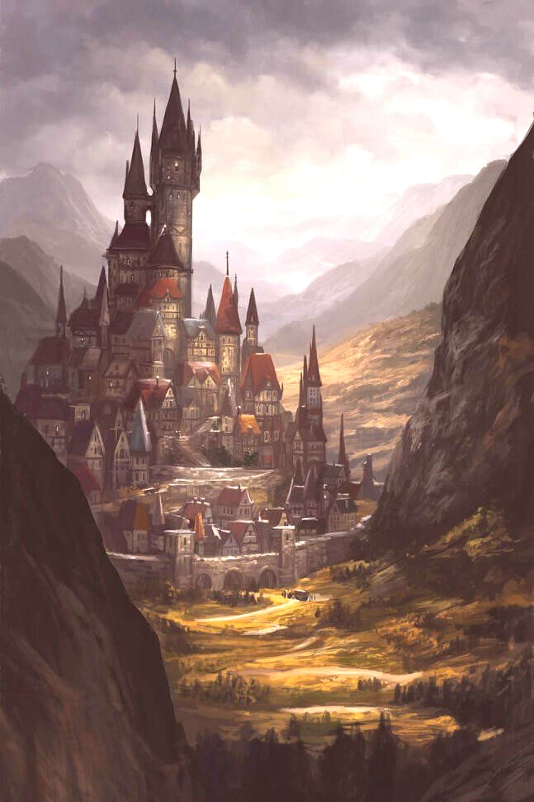Medieval Fantasy Cities : medieval, fantasy, cities, Fantasy, Medieval, Buildings,, Cities, Castles, Concept, Inspire