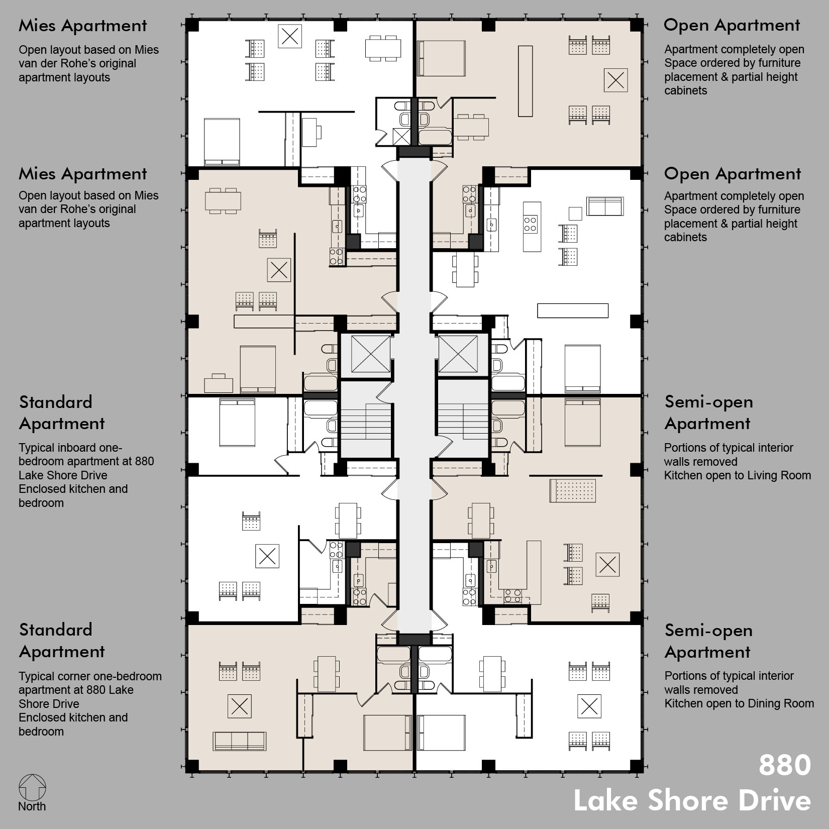 hight resolution of combining apartments