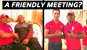 Rowley and Faris take photo with criminal?