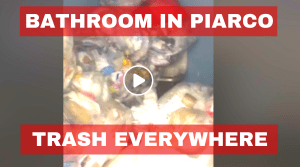 Tourists being welcomed by Garbage in Piarco Bathroom (Video)
