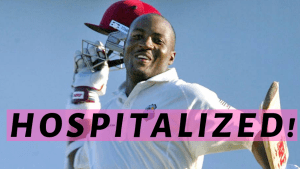 Brian Lara hospitalized