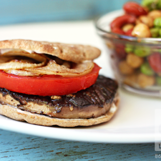 Juicy Grilled Portobello Burgers (vegan, gf)