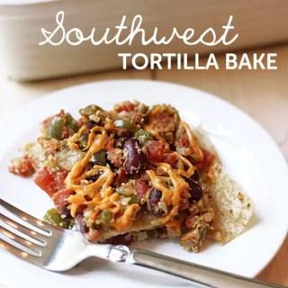 Southwest Tortilla Bake (vegan, gf)