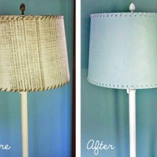 Ugly, old floor lamp gets a makeover.
