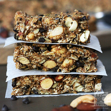 Chocolate Peanut Butter Breakfast Bars (vegan, gf)