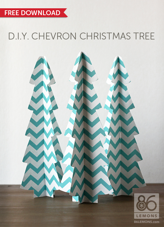 Christmas Tree Images Free Download.Diy 3d Chevron Christmas Tree Free Download 86 Lemons