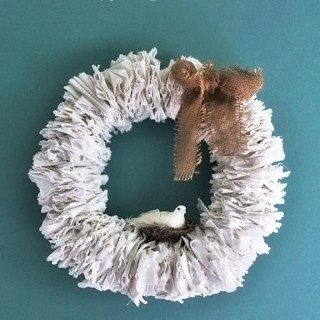 DIY All-Seasons Linen Wreath