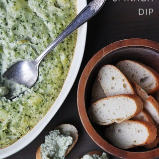 Creamy Artichoke Spinach Dip (vegan, gf)