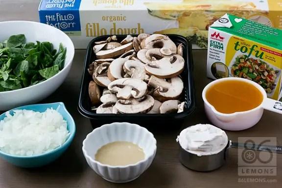 Mushroom and Spinach Pockets #vegan 86lemons.com