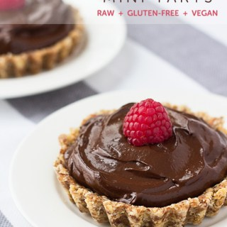 Chocolate Mini Tarts (vegan, gf, raw)