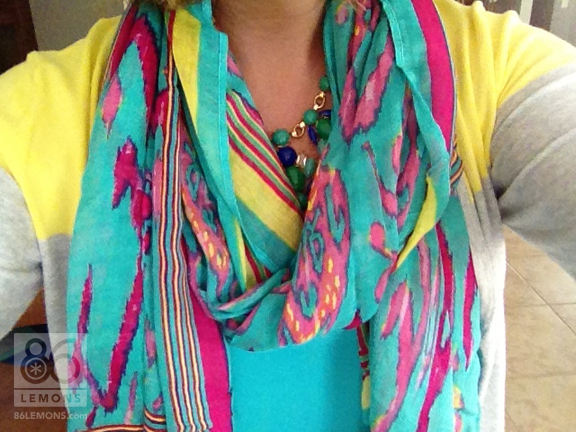 Turquoise Ikat Scarf by Stella & Dot  86lemons.com #accessories #scarf #ikat #summer
