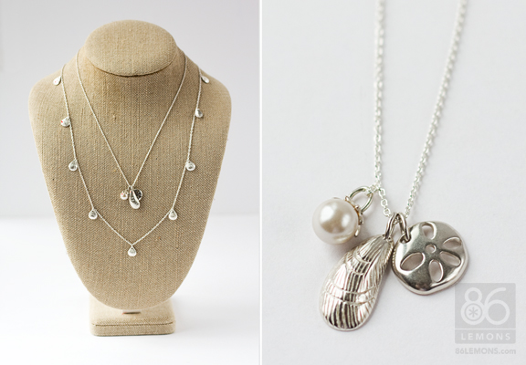 Sterling Silver Sea Life Charm Necklace  86lemons.com #accessories #jewelry #summer #necklace #sterlingsilver