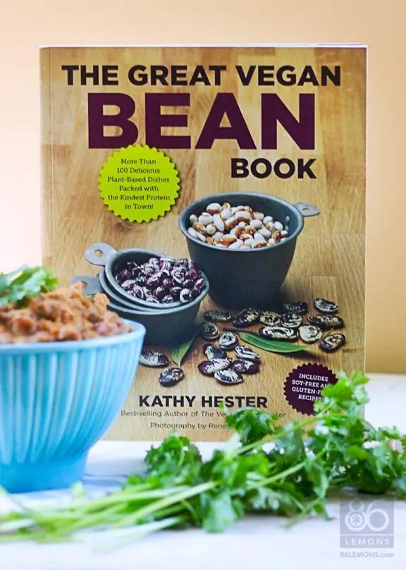 The Great Vegan Bean Book by Kathy Hester #vegan #cookbook #recipes #glutenfree