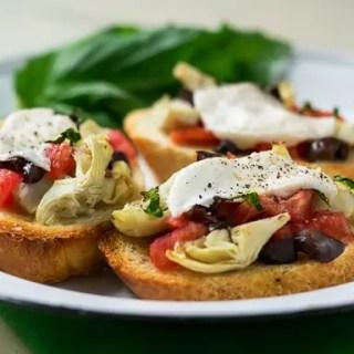 Mediterranean Crostini (vegan, gf)