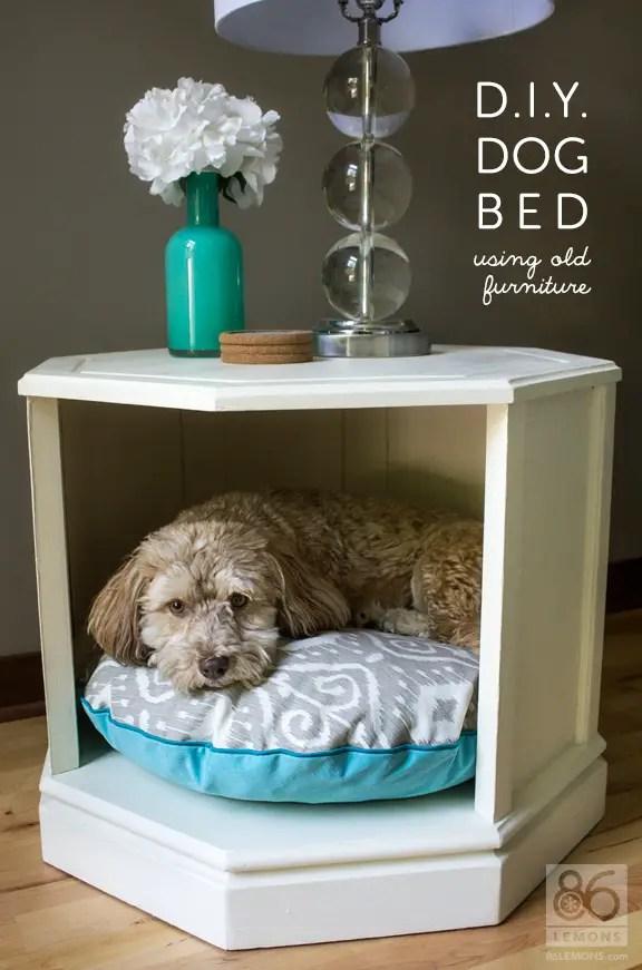 D I Y Dog Bed Side Table Makeover 86 Lemons