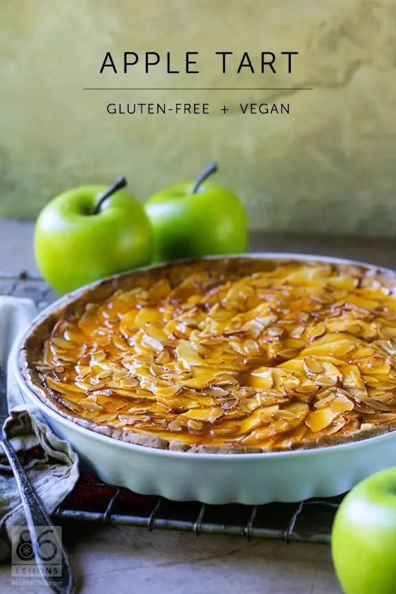vegan apple tart