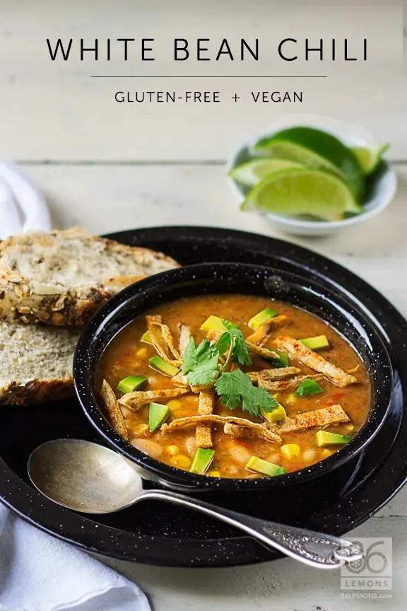 White Bean Chili #vegan #glutenfree #fallfood #healthy
