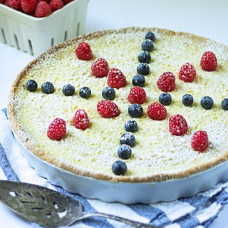 Coconut Lemon Tart (v/gf)