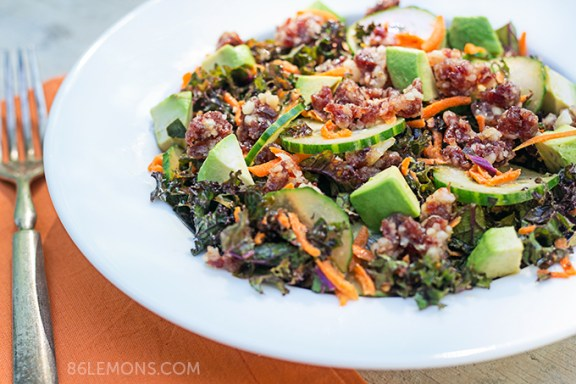 Summer Salad with Macadamia-Nut Crumble #vegan #gluten-free