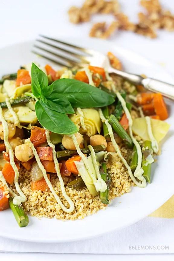 Veggie Walnut Couscous #vegan #glutenfree #recipe