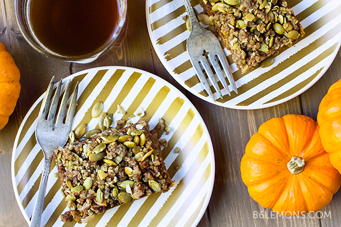 Pumpkin Pecan Cake (vegan, gluten-free) 5