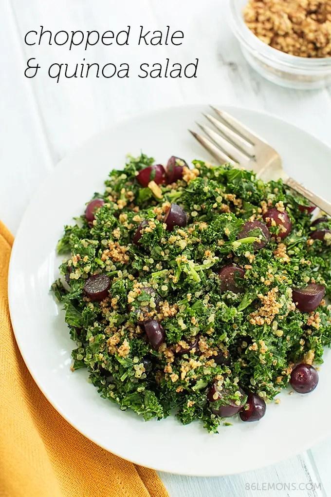 Vegan Gluten Free Chopped Kale & Quinoa Salad