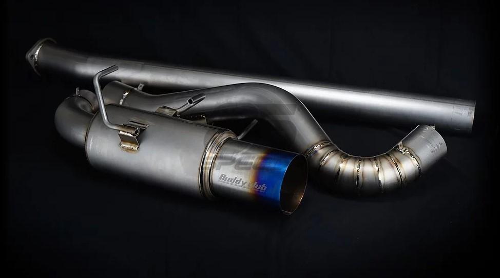 buddy club racing spec titanium burnt cat back exhaust frs brz 86 discontinued