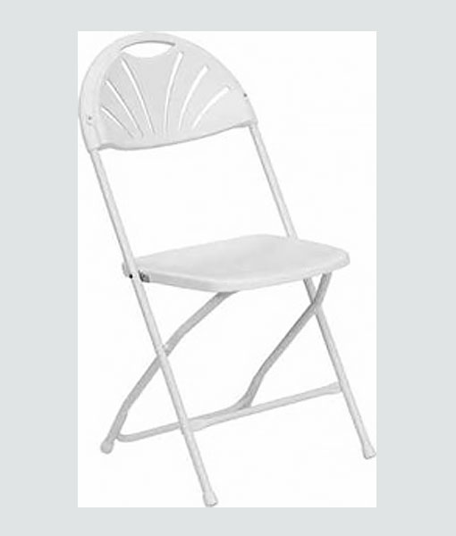 Fan Back Chairs  Party Pronto Rentals