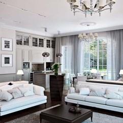 Living Room Classic Black Sets White Design
