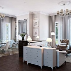 Living Room Classic Wall Colors Grey 2 White Design