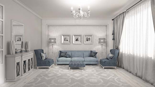 elegant living rooms designs decorating ideas for room with dark gray walls neoclassical design