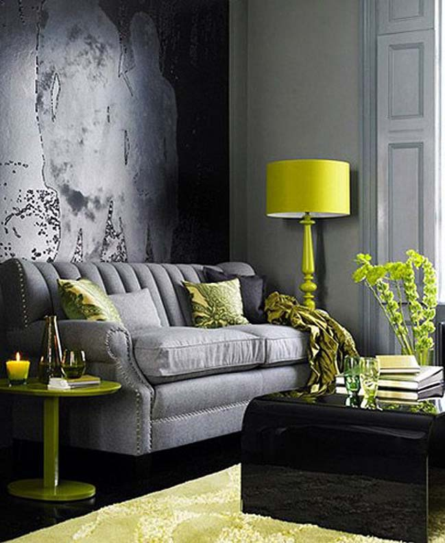 20 Stunning Grey And Green Living Room Ideas