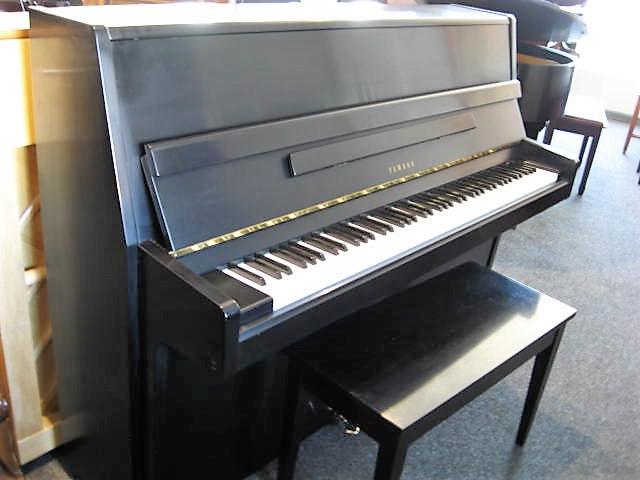 Yamaha model p2 studio upright piano in ebony for Yamaha upright piano lock key