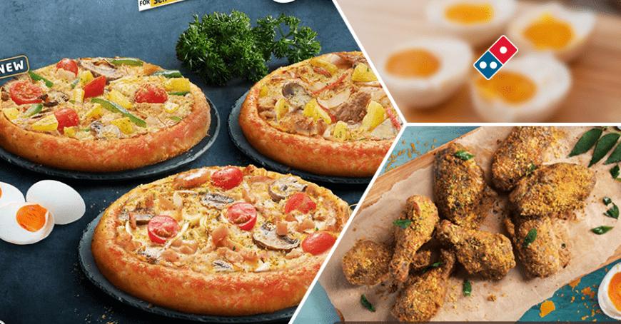 【咸蛋控快尖叫!】大馬Domino's推出3種全新「咸蛋口味Pizza」!咸蛋控絕不能錯過~ | 88razzi