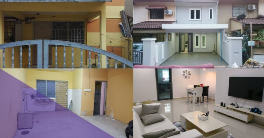 cost to remodel kitchen tall table and chairs for 小成本改造 淘宝家 大马网友买 二手房 用rm60k把旧屋装修成dream house 88razzi